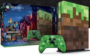 Consola Xbox One S 1tb Ed Limitada Minecraft Nueva Y Sellada
