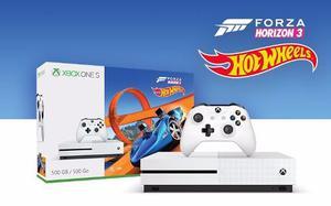 Consola Xbox One S 500 Gb + Forza Horizon 3+hot Wheels Nuevo