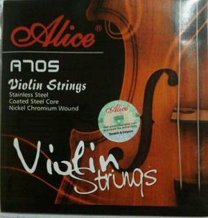 Cuerdas De Violin 4/4 Alice 705 Juego Completo
