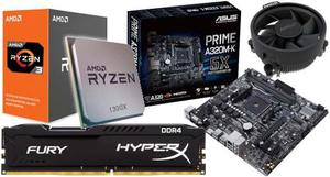 Kit De Actualizacion Gamer Ryzen x 3.7ghz 8gb Hyperx