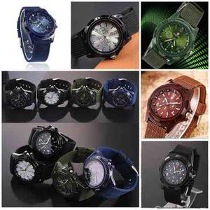 Lote 10 Relojes Gemius Army Estilo Militar Moda, 5 Colores.