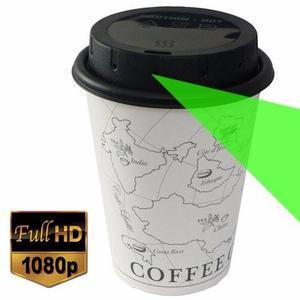 Mini Camara Espia En Taza Vaso Para Cafe Reusable Fullhd 32g
