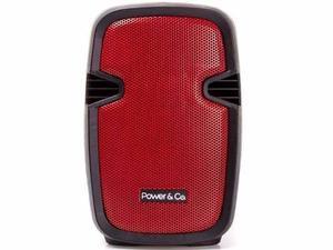 Power&co Bocina Amplificada Recargable Bt Rojo Xp-rd