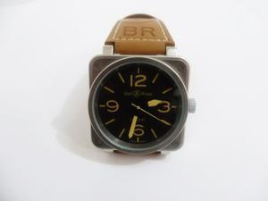 Reloj Bell Ros Automatico Cafe Plata Acero Inoxidable Caja