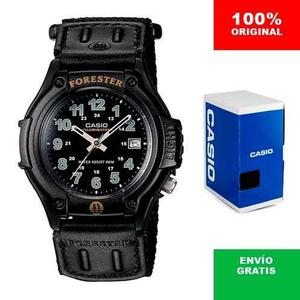 Reloj Casio Forester Ft500 Extensible De Lona - Luz- Cfmx -