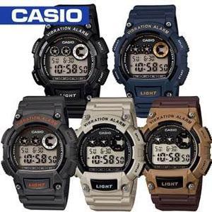 Reloj Casio W735 Caucho - Alarma Vibratoria - Original -cfmx