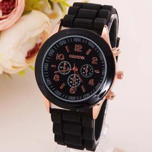 Reloj Geneva Diamond Moda Hermoso De Silicon Precio Mayoreo