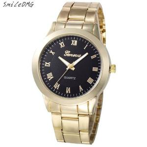 Reloj Geneva Original Color Oro O Plata Por Pieza O Mayoreo