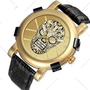 Reloj Hombre Skone Skull Homenaje Romain Jerome Dorado Vip