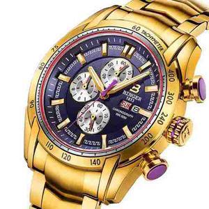 Reloj King Midas Chapado En Oro | Cronógrafo De:$