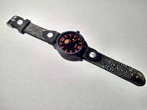 Reloj Vintage Emblema Harley Davidson, Biker 100% Piel