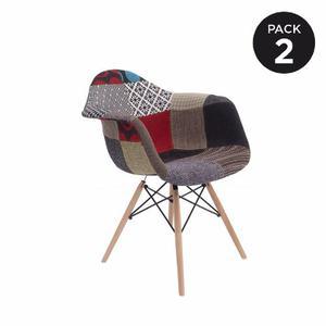 Silla Eames Con Brazo Tapizada - Set 2 - Increíble Promo!!!