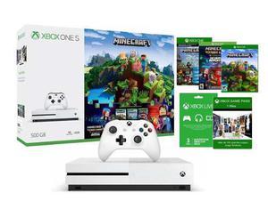 Xbox One S 500gb 4k Hdr + Saga Minecraft + 3 Meses Live
