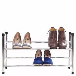 Rack perchero para ropa cuadruple cromado posot class for Zapateras de metal