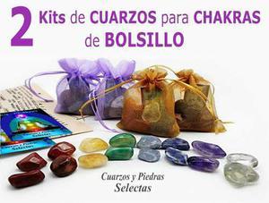 2 Kits Chakras Cuarzo Natural De Bolsillo Con 8/16 Piedras
