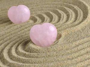 Corazón Cuarzo Rosa, Amuleto Del Amor Con Instructivo