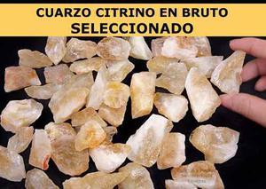 Cuarzo Citrino Grande En Bruto Seleccionado 612 Grs