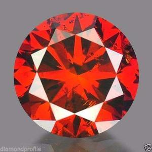 Diamante Rojo Certificado.15 Quilate 100% Natural