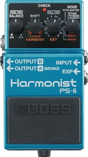 Pedal Boss Ps-6 Para Guitarra Eléctrica Con Armónicos