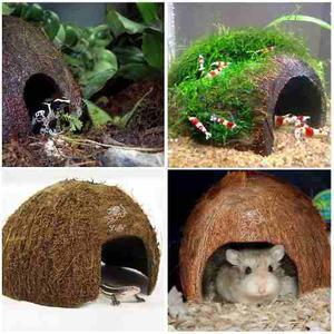 Accesorio Decoracion Coco Casa Para Hamster Y Todo Roedores