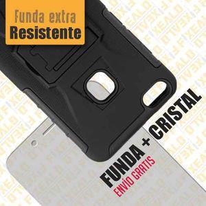 Funda Protector Uso Rudo Survivor + Cristal Huawei P10 Lite
