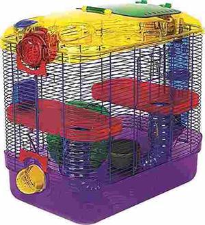 Jaula Para Hamster Cuyo 2 Niveles *envío Gratis