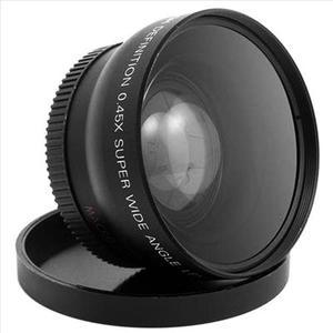 Lente 2 En 1 Gran Angular Y Macro 52mm Para Nikon.45x