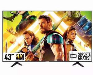 Pantalla Sharp Smart Tv 4k 43 Uhd Lc-43n610cu Hdmi + Soporte