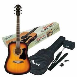 Paquete Completo Guitarra Acústica Ibanez Jampack