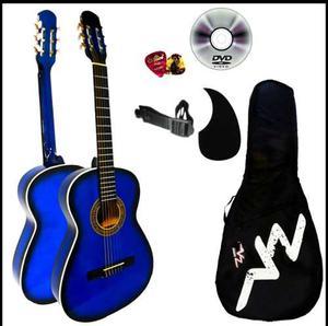 Paquete Guitarra Clásica Acústica Varios Colores Vz
