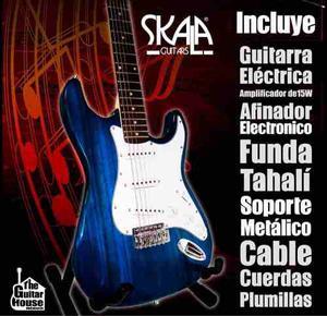 Paquete Guitarra Eléctrica Skala Varios Colores