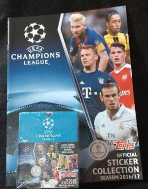 1 Caja (50 Sobres) + Album Champions League  Topps