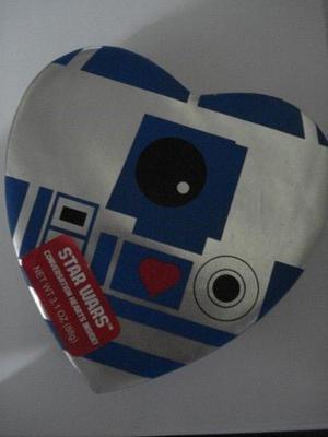 Star Wars R2 D2 Y Darth Vader Caja En Forma De Corazón