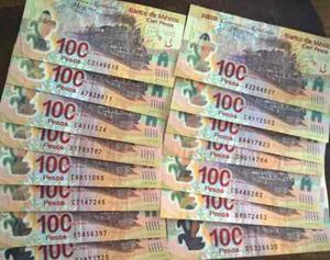 Billete De 100 Pesos Centenario De La Revolucion Con Error