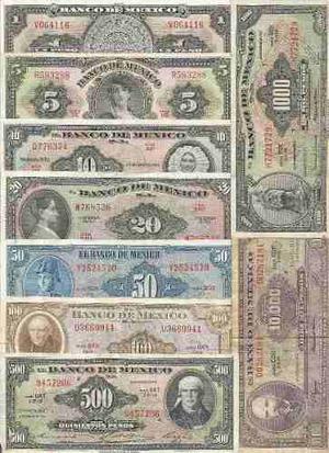 Coleccion Completa De Billetes Antiguos De Mexico,