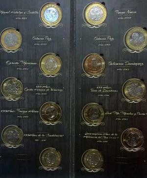 Hermosa Coleccion Completa D 12 Monedas 20 Pesos Con Album