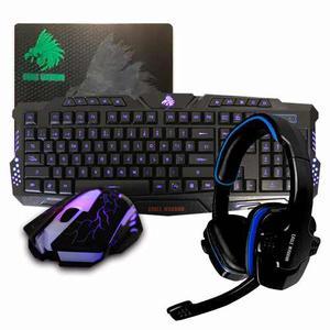 Kit Gamer Accesorios Teclado / Mouse / Mouse Pad / Diadema E
