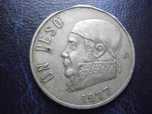 Mexico Un Peso Morelos Con Error De Troquelacion Fecha