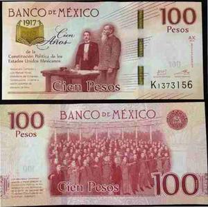 Moneda 20 Pesos Y Billete De 100 Pesos Nuevos Sin Circular