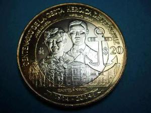 Moneda Bimetalica Centenario De La Toma De Veracruz