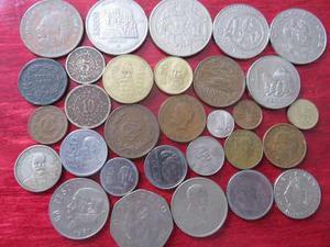 Monedas Lote De 30 Monedas Mexicanas Del Recuerdo