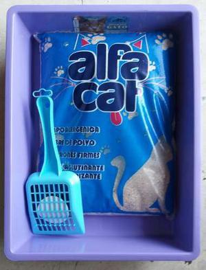 Arenero Para Gato Con Pala Y Arena De 5 Kg