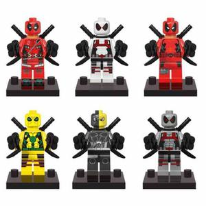 Excelente Set Deadpool De Colores Compatibles Con Lego