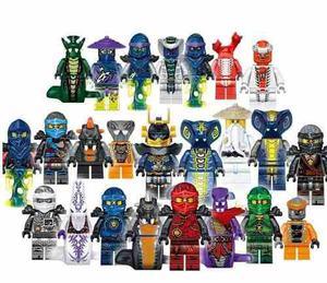 Genial Set Swa De 24 Figuras De Ninjago Compatible Bloques