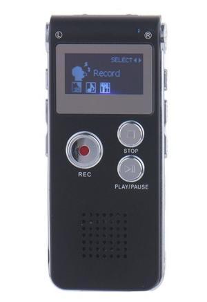 Grabadora De Voz Digital 8 Gb Internos Mp3 Reproductor Lcd