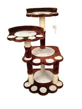 Mueble Rascador Para Gatos Uñas Y Juguete Huella