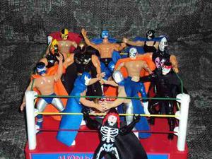 Ring De Lucha Libre + 2 Luchadores A Elegir