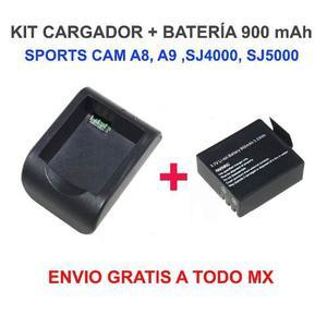 Set Cargador + 1 Batería Sj, Sj, A8, A9 Envío