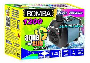 Bomba De Agua Sumergible Aquakril 600 L/h 1.2m