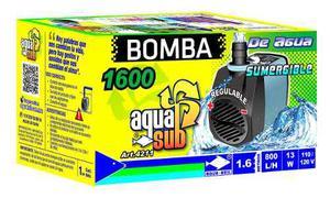 Bomba De Agua Sumergible Aquakril 800 L/h 1.6m 13w